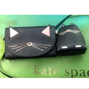 Kate spade Jazz Things Up Cat Crossbody & Coin Bag